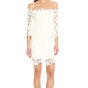 ASTR Women's Madeline Lace off the shoulder dress